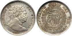 1/2 Crown Reino Unido de Gran Bretaña e Irlanda (1801-1922) Plata Jorge III (1738-1820)