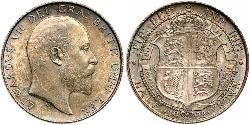 1/2 Crown Reino Unido de Gran Bretaña e Irlanda (1801-1922) Plata Eduardo VII (1841-1910)