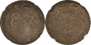 1/2 Crown Reino Unido de Gran Bretaña e Irlanda (1801-1922) Plata Jorge IV (1762-1830)
