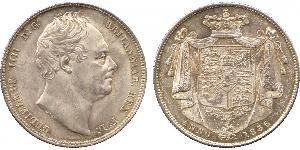 1/2 Crown Reino Unido de Gran Bretaña e Irlanda (1801-1922) Plata Guillermo IV (1765-1837)