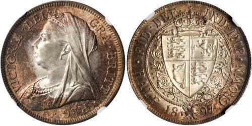 1/2 Crown Reino Unido de Gran Bretaña e Irlanda (1801-1922) Plata Victoria (1819 - 1901)