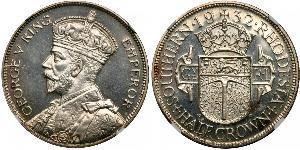 1/2 Crown Southern Rhodesia (1923-1980) Plata Jorge V (1865-1936)