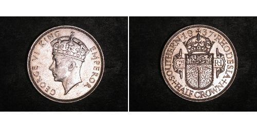 1/2 Crown Southern Rhodesia (1923-1980) Silber