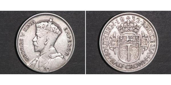 1/2 Crown Southern Rhodesia (1923-1980) Silber George V (1865-1936)