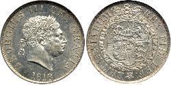 1/2 Crown Vereinigtes Königreich von Großbritannien und Irland (1801-1922) Silber Georg III (1738-1820)