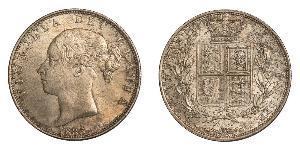 1/2 Crown Vereinigtes Königreich von Großbritannien und Irland (1801-1922) Silber Victoria (1819 - 1901)