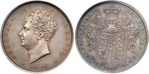 1/2 Crown Vereinigtes Königreich von Großbritannien und Irland (1801-1922) Silber Georg IV (1762-1830)
