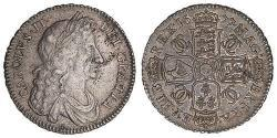 1/2 Crown Kingdom of England (927-1649,1660-1707) Silver Charles II (1630-1685)