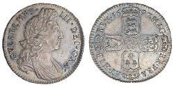 1/2 Crown Kingdom of England (927-1649,1660-1707) Silver William III (1650-1702)
