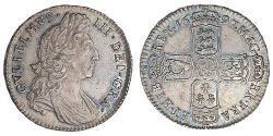1/2 Crown Kingdom of England (927-1649,1660-1707) Silver William III (1650-1702)