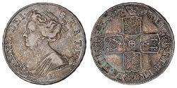 1/2 Crown Kingdom of Great Britain (1707-1801) Silver Anne, Queen of Great Britain (1665-1714)