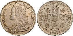 1/2 Crown Kingdom of Great Britain (1707-1801) Silver George II (1683-1760)