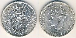1/2 Crown Southern Rhodesia (1923-1980) Silver George VI (1895-1952)
