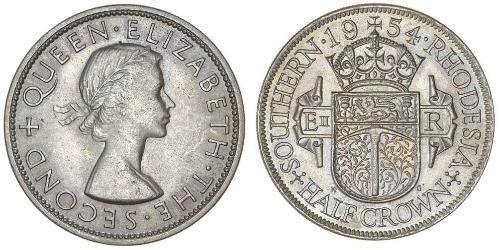 1/2 Crown Southern Rhodesia (1923-1980) Silver Elizabeth II (1926-)
