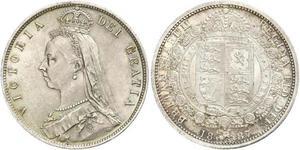1/2 Crown United Kingdom of Great Britain and Ireland (1801-1922) Silver Victoria (1819 - 1901)