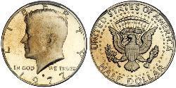 1/2 Dólar Estados Unidos de América (1776 - ) Cobre John Fitzgerald Kennedy (1917-1963)