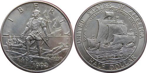 1/2 Dólar Estados Unidos de América (1776 - ) Cobre