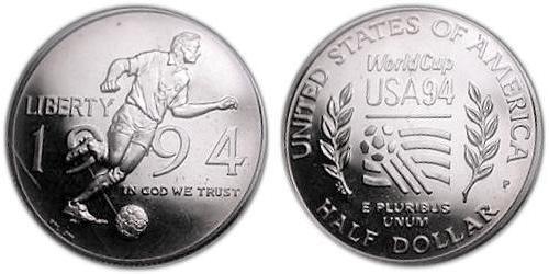 1/2 Dólar Estados Unidos de América (1776 - ) Níquel