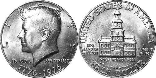 1/2 Dólar Estados Unidos de América (1776 - ) Níquel/Cobre John Fitzgerald Kennedy (1917-1963)