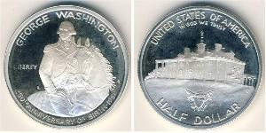 1/2 Dólar Estados Unidos de América (1776 - ) Plata George Washington