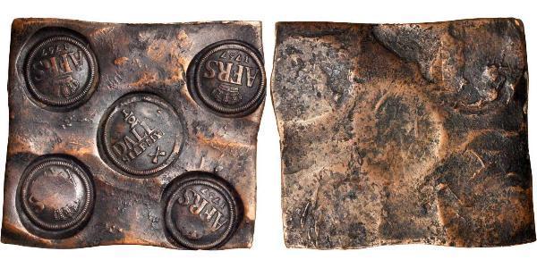 1/2 Daler Швеція Мідь Adolf Frederick of Sweden (1710 - 1771)