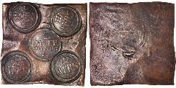 1/2 Daler 瑞典 銅 阿道夫·弗雷德里克 (1710 - 1771)