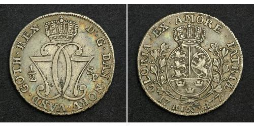 1/2 Daler Norway Silver