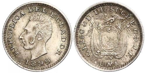 1/2 Decimo Équateur (pays) Argent
