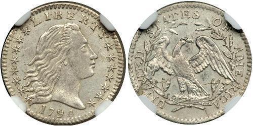 1/2 Dime / 5 Cent 美利堅合眾國 (1776 - ) 銀