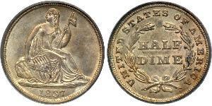 1/2 Dime / 5 Cent USA (1776 - ) Copper/Silver