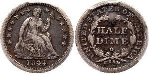 1/2 Dime / 5 Cent USA (1776 - ) Copper/Silver