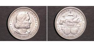 1/2 Dollar 美利堅合眾國 (1776 - ) 銀 克里斯托弗·哥伦布