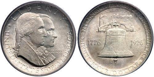1/2 Dollar 美利堅合眾國 (1776 - ) 銀 乔治·华盛顿