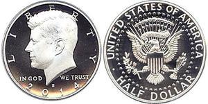1/2 Dollar Vereinigten Staaten von Amerika (1776 - ) Silber John Fitzgerald Kennedy (1917-1963)