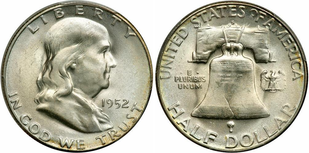 1 2 Dollar 1948 1963 Usa 1776 Silver Franklin Delano