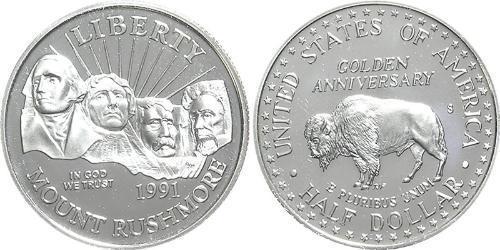 1/2 Dollar / 50 Cent 美利堅合眾國 (1776 - ) 銅/镍