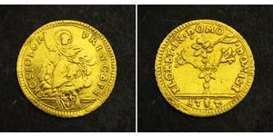 1/2 Doppia Папская область (752-1870) Золото Пий VI ( 1717-1799)