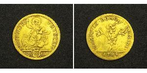 1/2 Doppia Папська держава (752-1870) Золото Пій VI ( 1717-1799)
