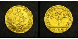 1/2 Doppia 教皇国 (754 - 1870) 金 Pope Pius VI ( 1717-1799)