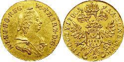 1/2 Ducat Holy Roman Empire (962-1806) / Principality of Transylvania (1571-1711) Gold Maria Theresa of Austria (1717 - 1780)