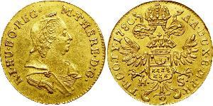 1/2 Ducat Principality of Transylvania (1571-1711) / Holy Roman Empire (962-1806) Gold Maria Theresa of Austria (1717 - 1780)