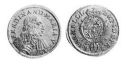 1/2 Ducat Electorate of Bavaria (1623 - 1806) Oro Fernando María, Elector de Baviera(1636 – 1679)