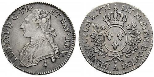 1/2 Ecu 中世纪的法国 銀 路易十六 (1754 - 1793)