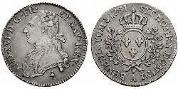 1/2 Ecu Kingdom of France (843-1791) Silber Ludwig XVI (1754 - 1793)