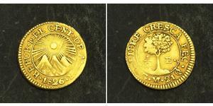 1/2 Escudo 危地马拉 / Costa Rica / 中美洲联邦共和国 (1823 - 1838) 金