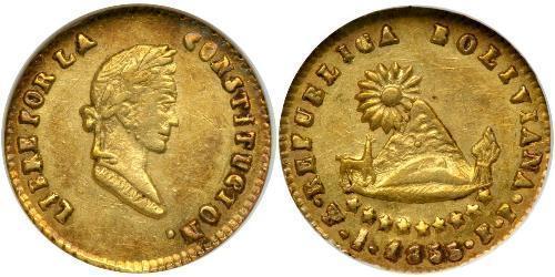 1/2 Escudo Bolivien Gold