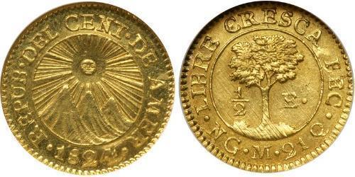 1/2 Escudo Guatemala Gold