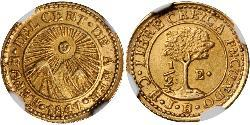 1/2 Escudo Guatemala / Federal Republic of Central America (1823 - 1838) / Costa Rica Gold