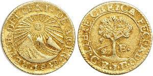 1/2 Escudo Guatemala / Costa Rica / Federal Republic of Central America (1823 - 1838) Gold