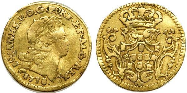 1/2 Escudo Kingdom of Portugal (1139-1910) Gold John V of Portugal (1689-1750)